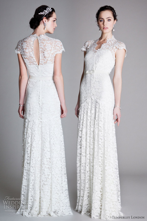 Wedding Dresses Vintage Style London - Overlay Wedding Dresses