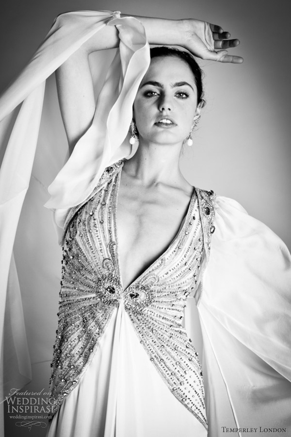 temperley london bridal 2012 greata kimono shrug