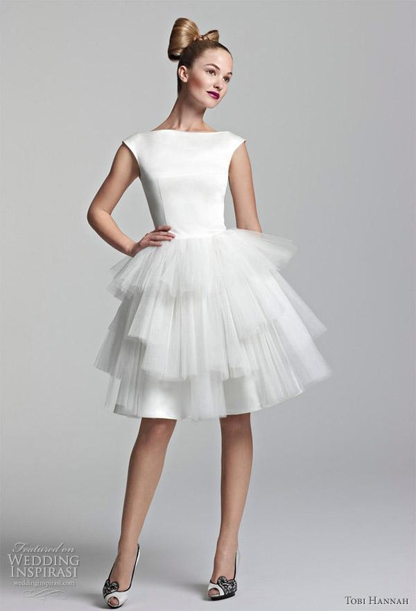 Tobi hannah short wedding dresses spring 2012 youthquake for Short spring wedding dresses