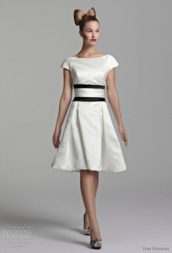 3de53b2cf3 Tobi Hannah Short Wedding Dresses — Spring 2012 Youthquake Bridal ...