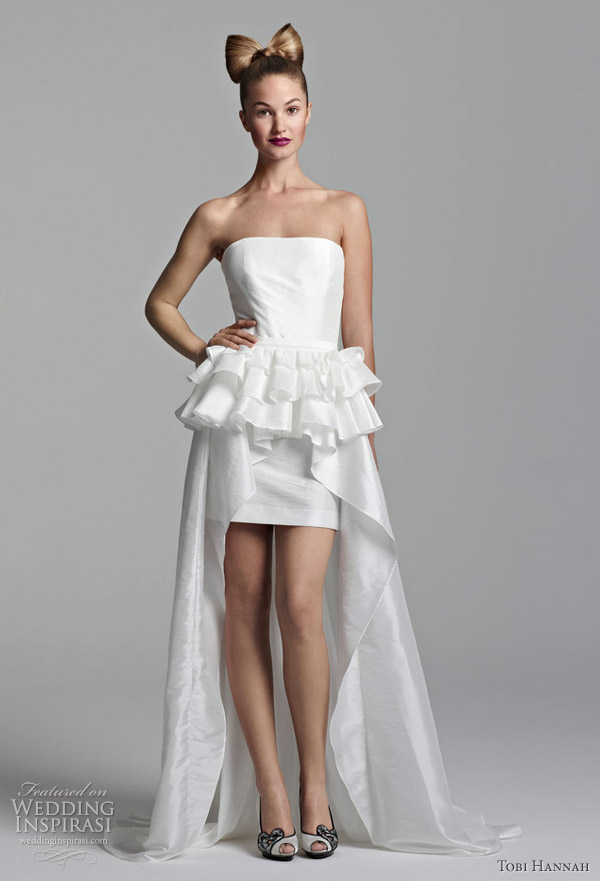 tobi hannah short wedding dresses spring 2012 youthquake