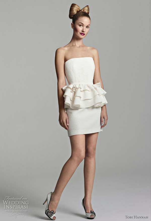 Tobi Hannah Short Wedding Dresses — Spring 2012 Youthquake Bridal ...