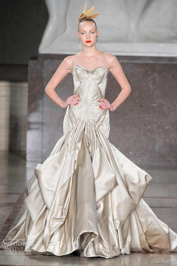Zac posen fall winter 2012 2013 wedding inspirasi for Zac posen wedding dress price