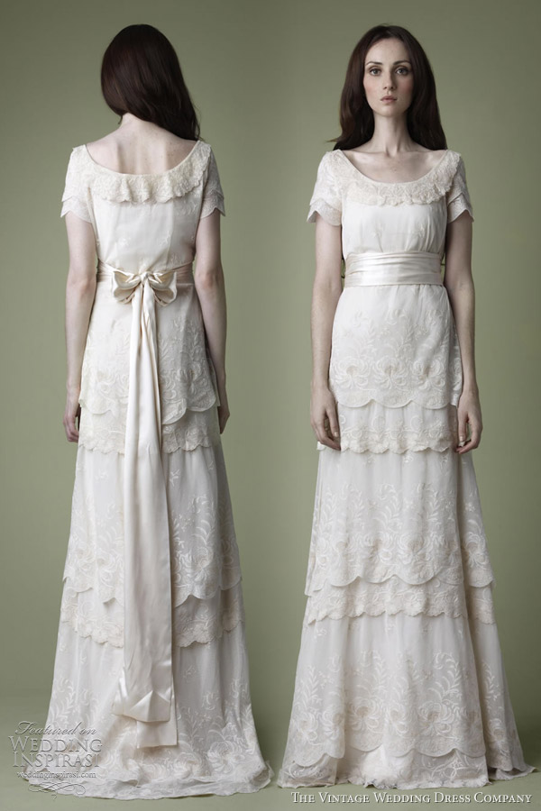 1910s wedding dress