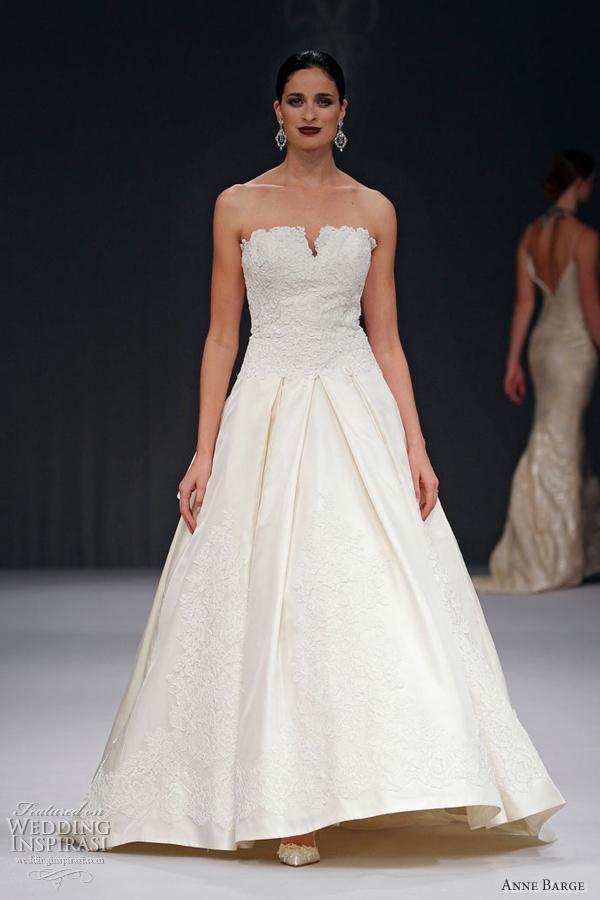Anne barge wedding dresses spring 2012 wedding inspirasi for Silk shantung wedding dress