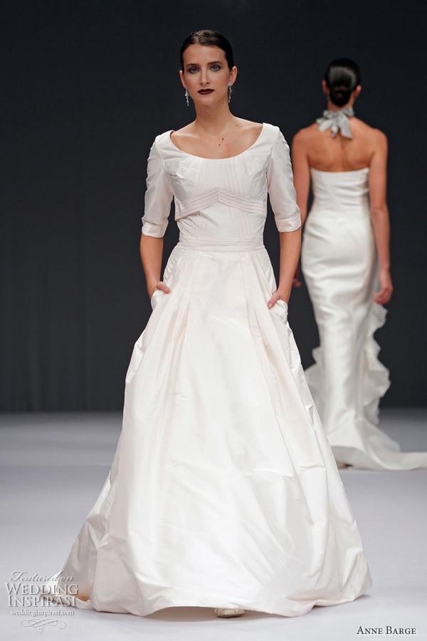 Anne barge wedding dresses spring 2012 wedding inspirasi for Taffeta wedding dress with pockets