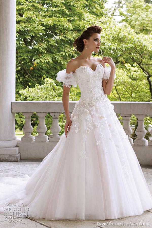 David tutera for mon cheri 2012 deacon gownDavid Tutera for Mon Cheri Wedding Dresses   Spring 2012 Bridal  . Mon Cheri Wedding Dresses. Home Design Ideas