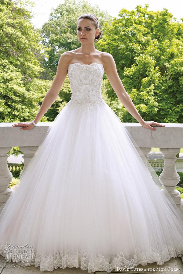 David Tutera For Mon Cheri Wedding Dress Fall 2012