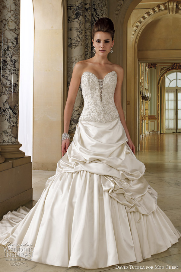 david tutera wedding dresses 2012 falsette View of the full laceup corset