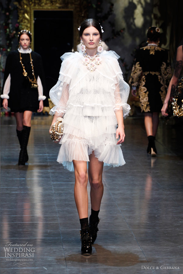 6f94f018 Dolce & Gabbana Fall/Winter 2012-2013 | Wedding Inspirasi