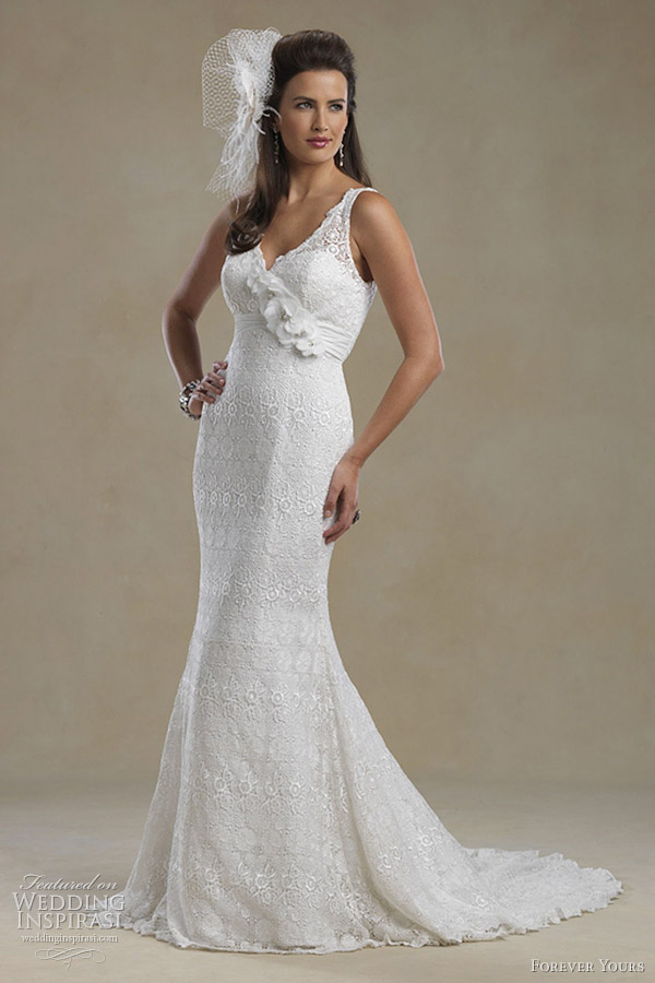 forever yours bridal 2012 sheath wedding dress