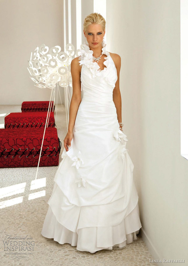 halter wedding dress linea raffaelli