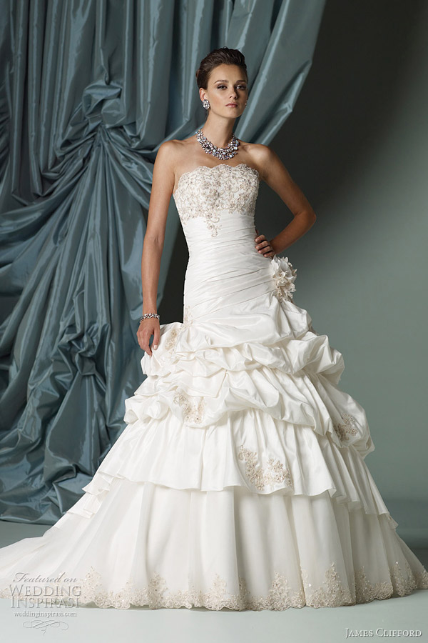 james clifford ball gown wedding dress spring 2012