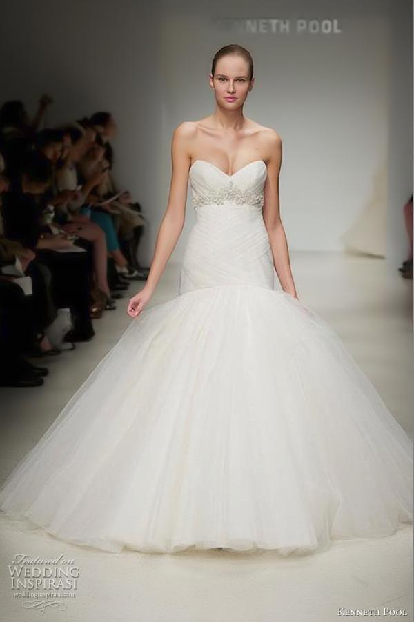 Kenneth Pool Wedding Dresses Fall 2012 Wedding Inspirasi