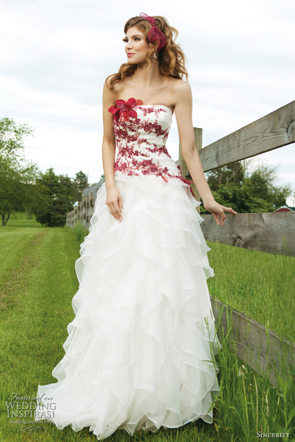 Red And White Wedding Gowns For : Tag wedding dresses with color ...