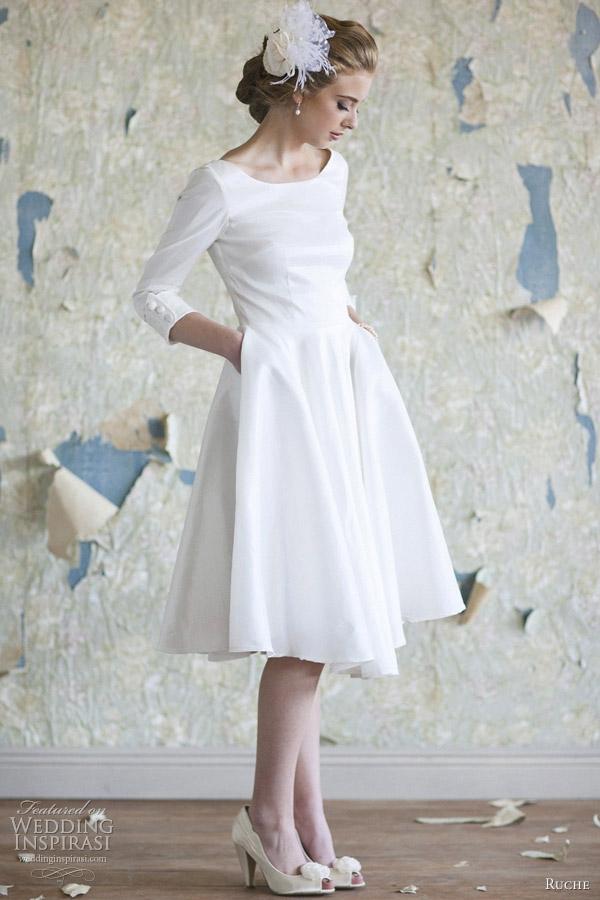 ruche bridal 2012 collection audrey wedding dress