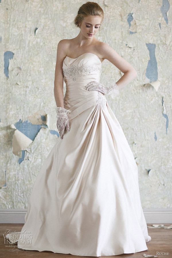 ruche bridal 2012 victoria wedding dress