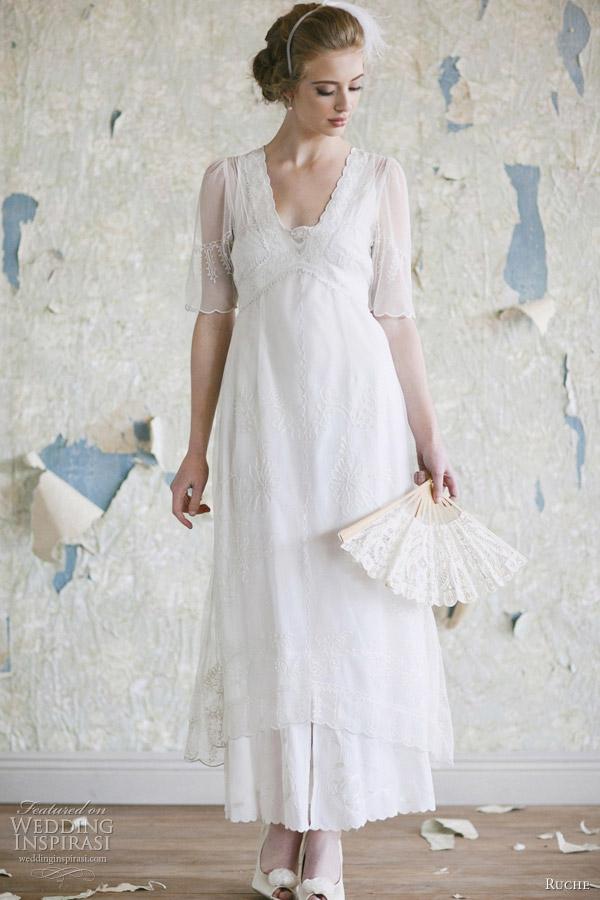 ruche bridal gown 2012 nadine