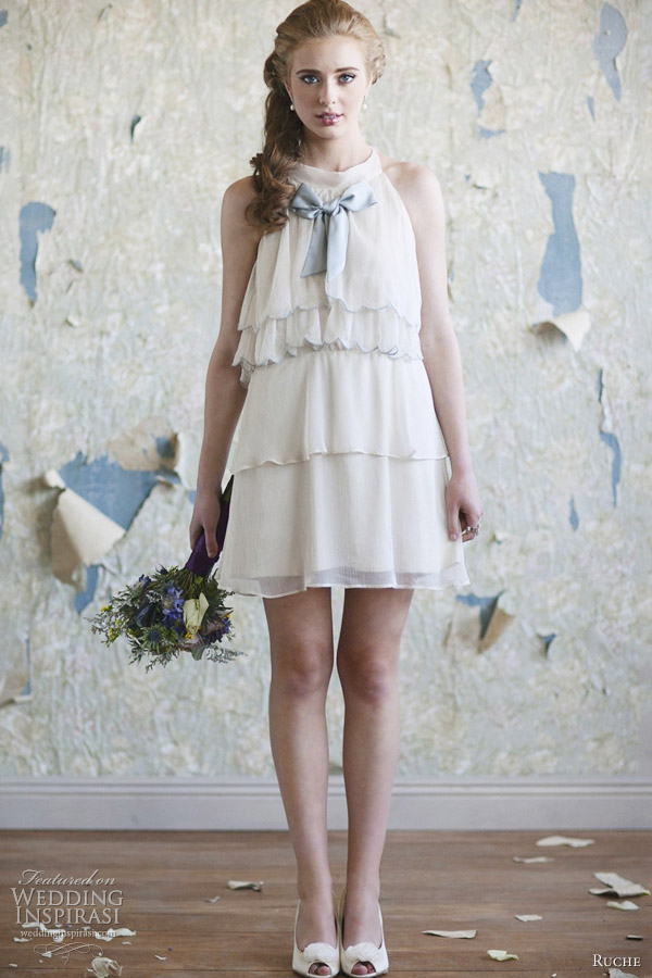 ruche short wedding dresses 2012
