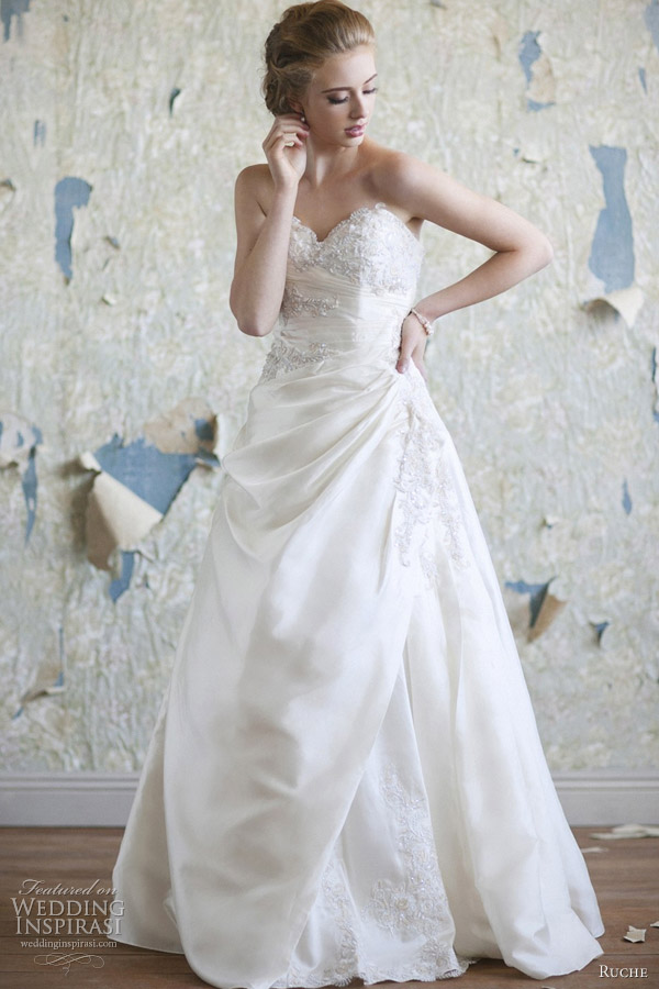 ruche wedding dress 2012 ava