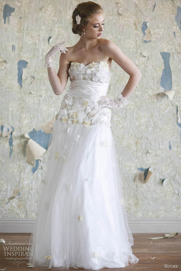 ruche wedding dresses 2012 alexandria