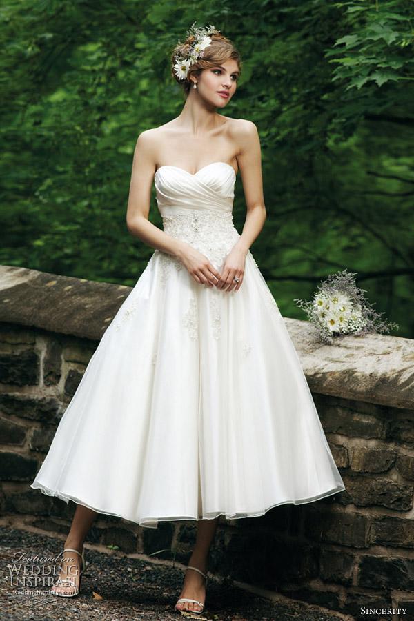 Sincerity bridal wedding dresses 2012 wedding inspirasi for Sweetheart neckline tea length wedding dress