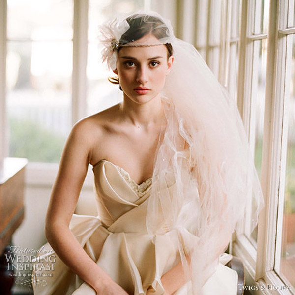 twigs and honey 2012 bridal collection halo veil