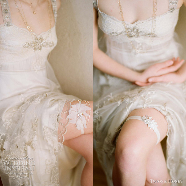 twigs and honey 2012 bridal garter