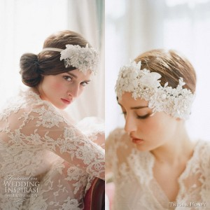 twigs and honey 2012 bridal headpiece
