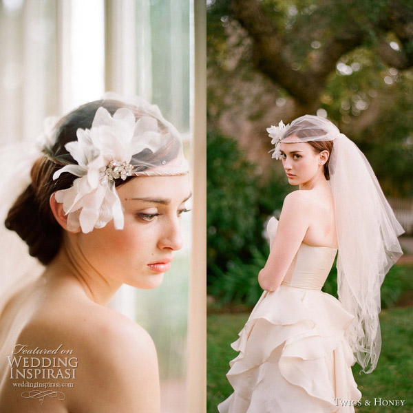 twigs and honey 2012 collection halo bridal veil