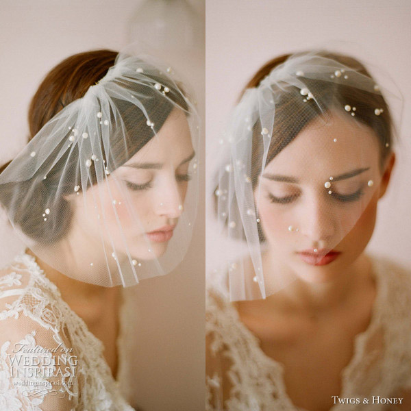 twigs and honey 2012 new collection tulle veil