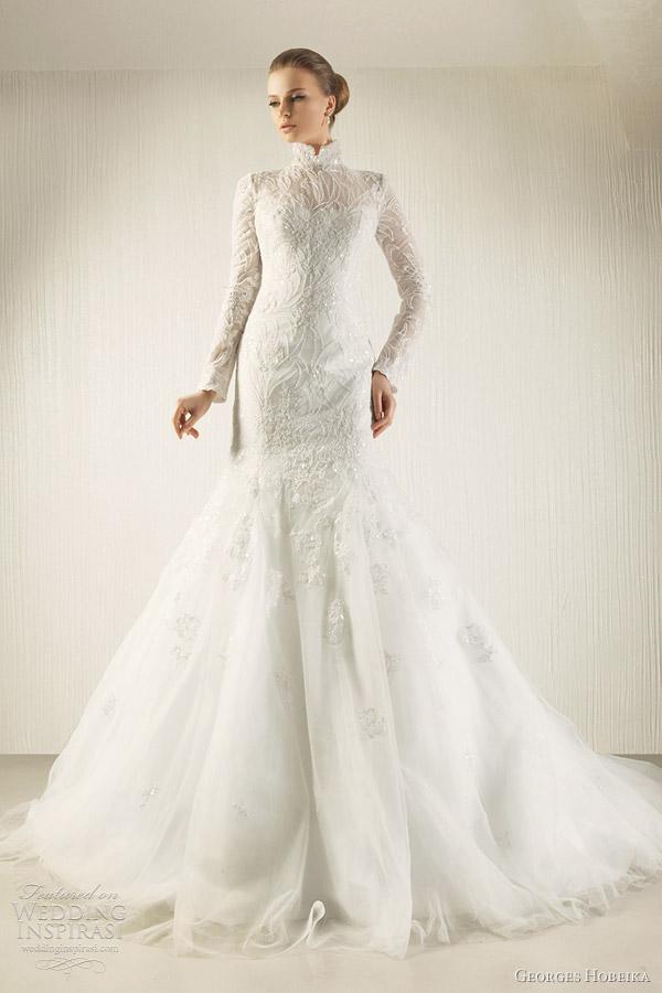 georges hobeika 2012 long sleeve wedding dress