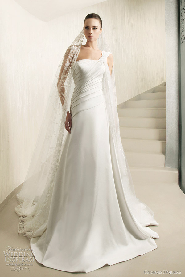 georges hobeika bridal 2012 one shoulder wedding