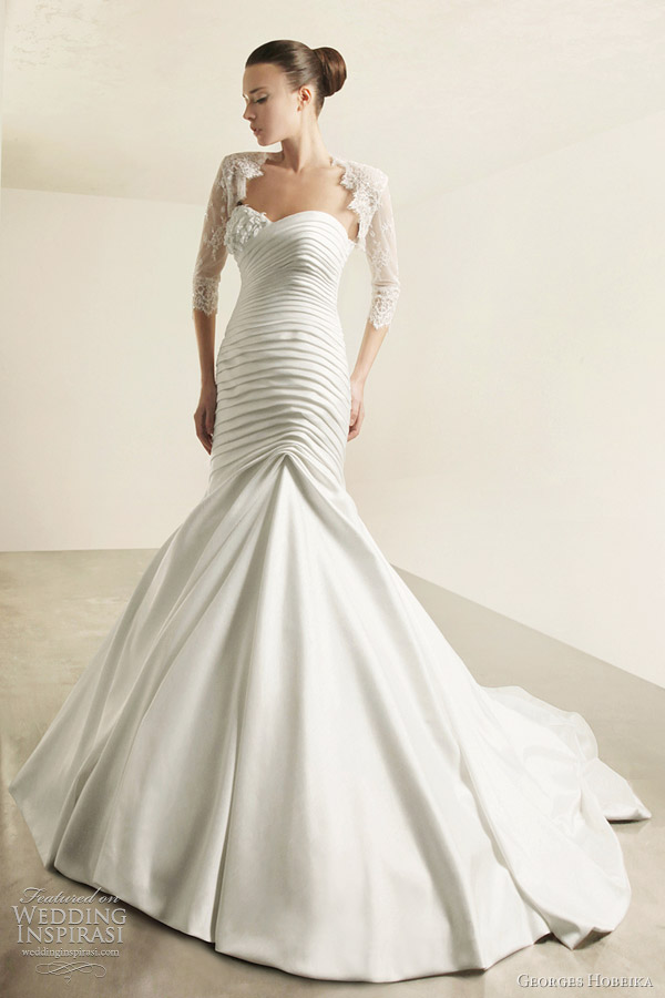 georges hobeika bridal 2012 wedding dress sleeves