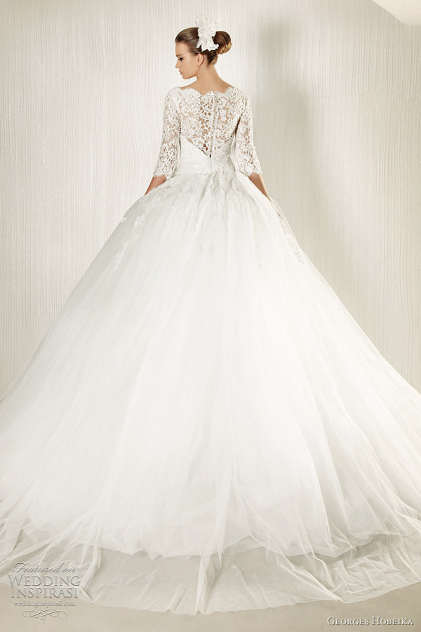 georges hobeika wedding gown 2012