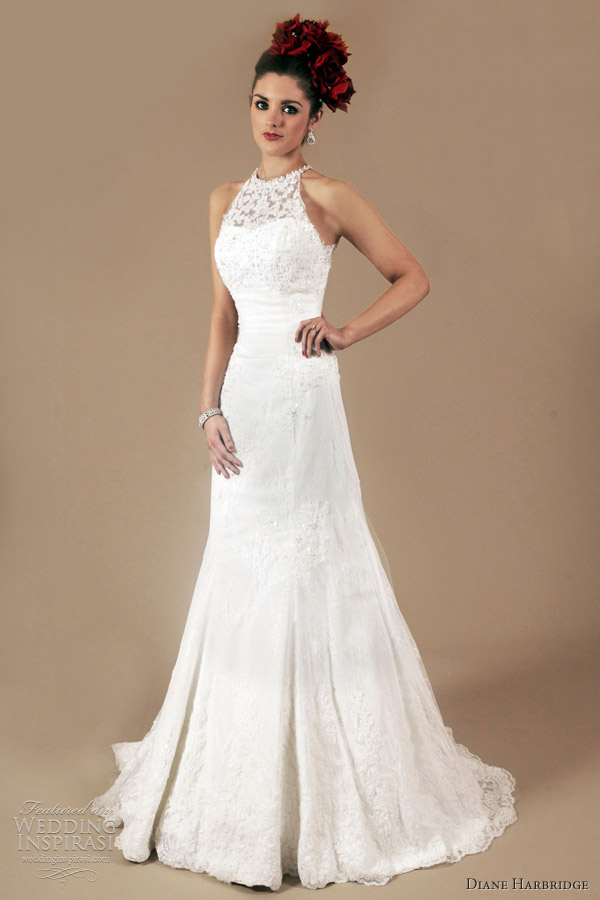 halter neck wedding dress 2012