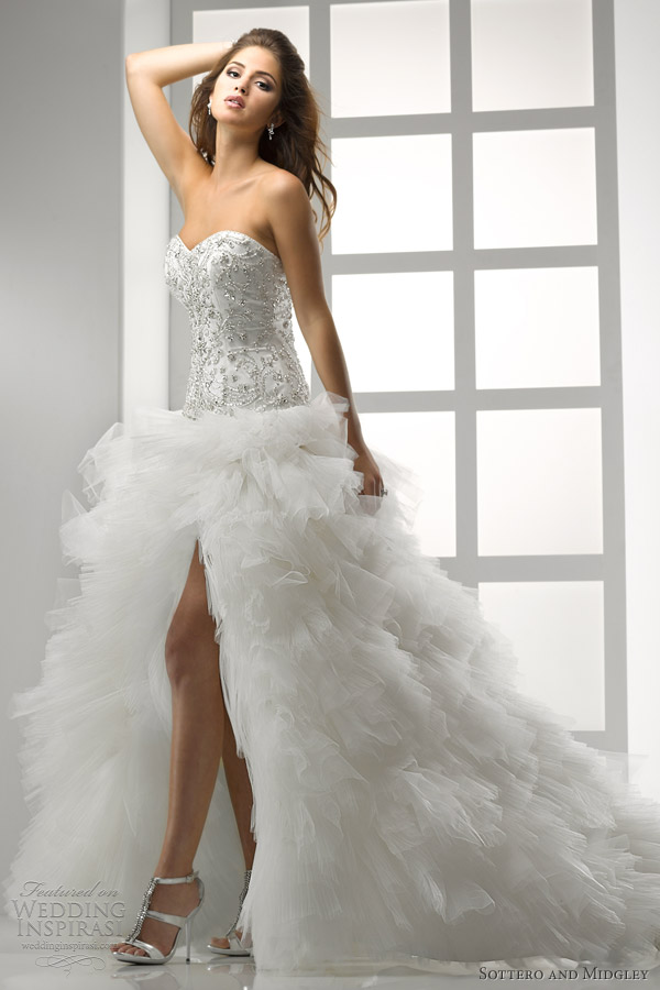 Sottero and midgley wedding dresses 2012 wedding for Tulle high low wedding dress