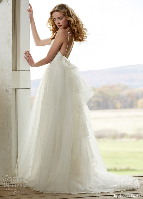 jim hjelm blush spring 2012 wedding dress