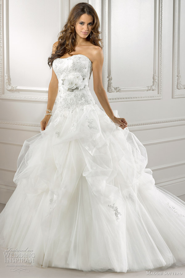 Maggie sottero wedding dresses 2012 symphony collection for Fitted ball gown wedding dress