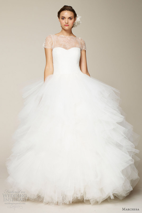 marchesa bridal 2013 ball gown