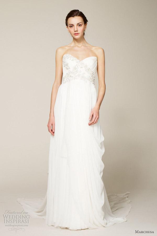 marchesa bridal spring 2013 drape gown
