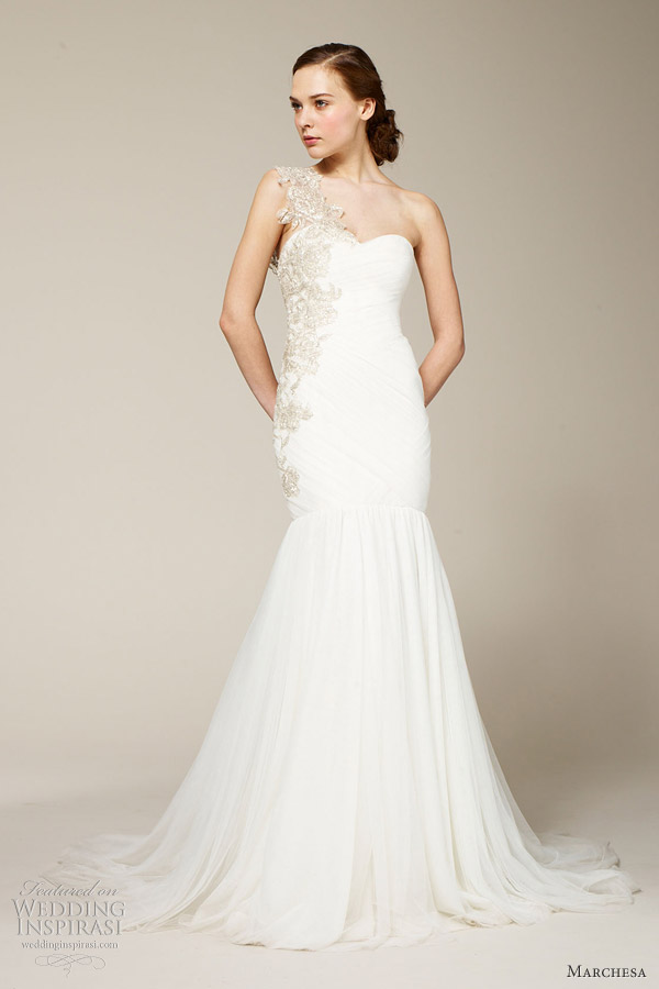 marchesa spring 2012 one shoulder gown