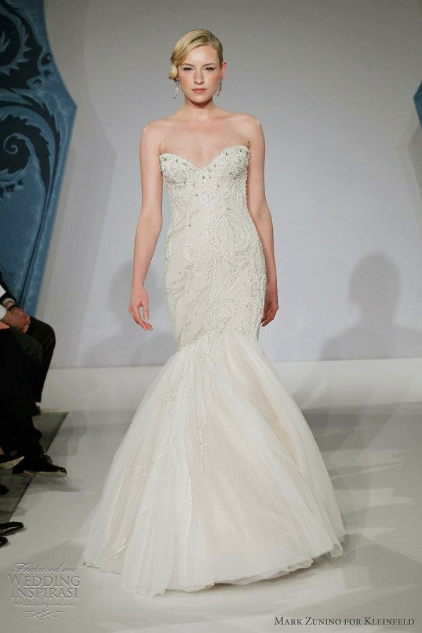 mark zunino for kleinfeld wedding dress spring 2013