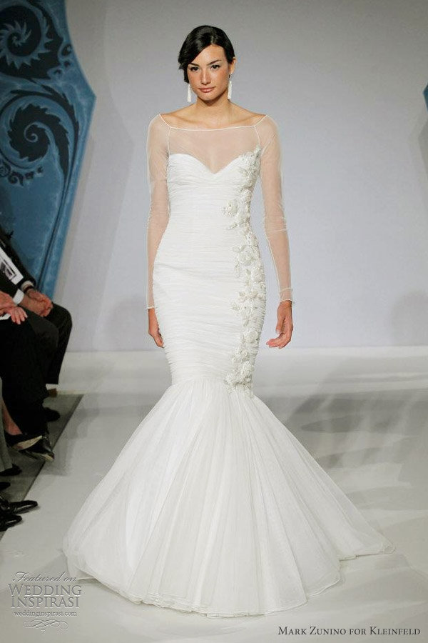 Mark zunino for kleinfeld wedding dresses wedding for Kleinfeld wedding dresses with sleeves