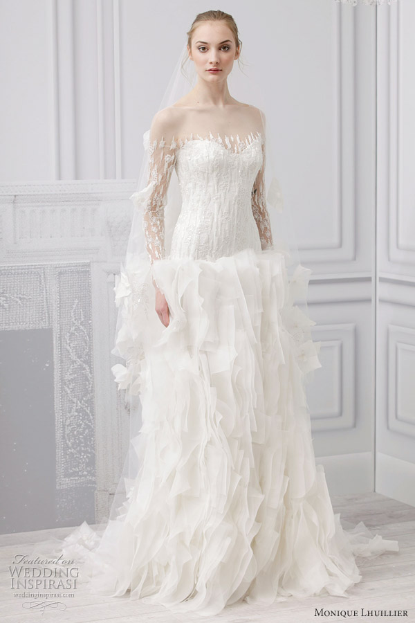 37d61143682 Monique Lhuillier Bridal Spring 2013 Wedding Dresses. monique lhuillier 2013  mademoiselle wedding gown