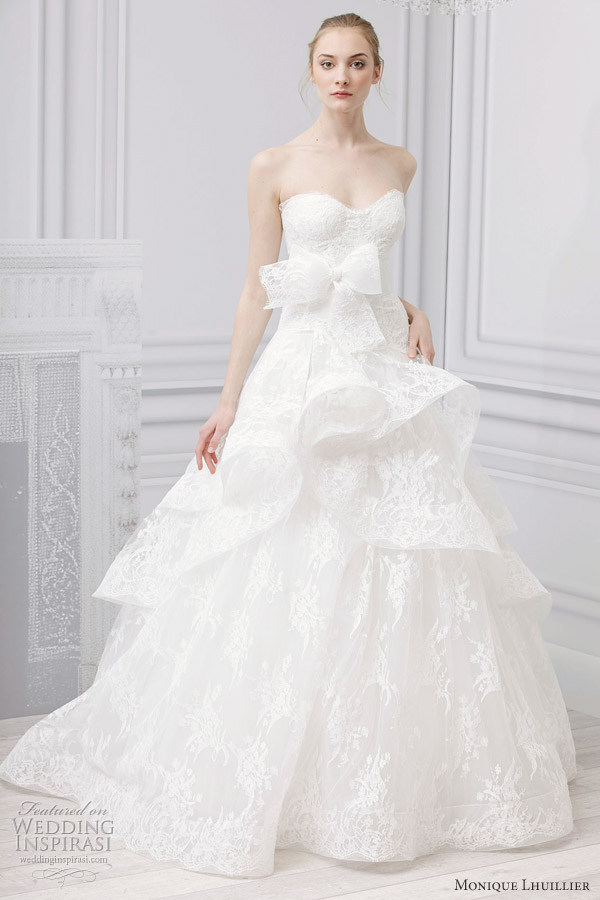 Monique Lhuillier Bridal Spring 2013 Wedding Dresses | Wedding ...