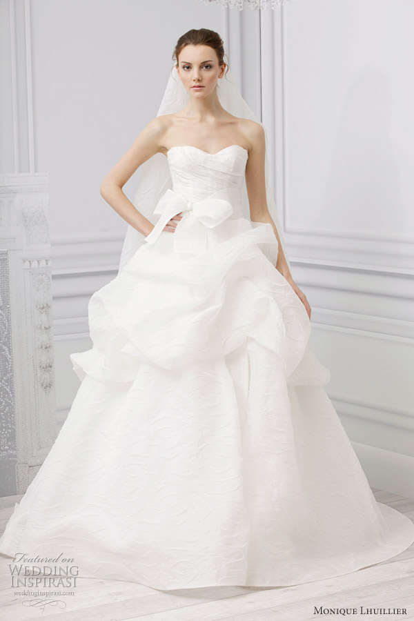Monique lhuillier bridal spring 2013 wedding dresses for Monique lhuillier wedding dress