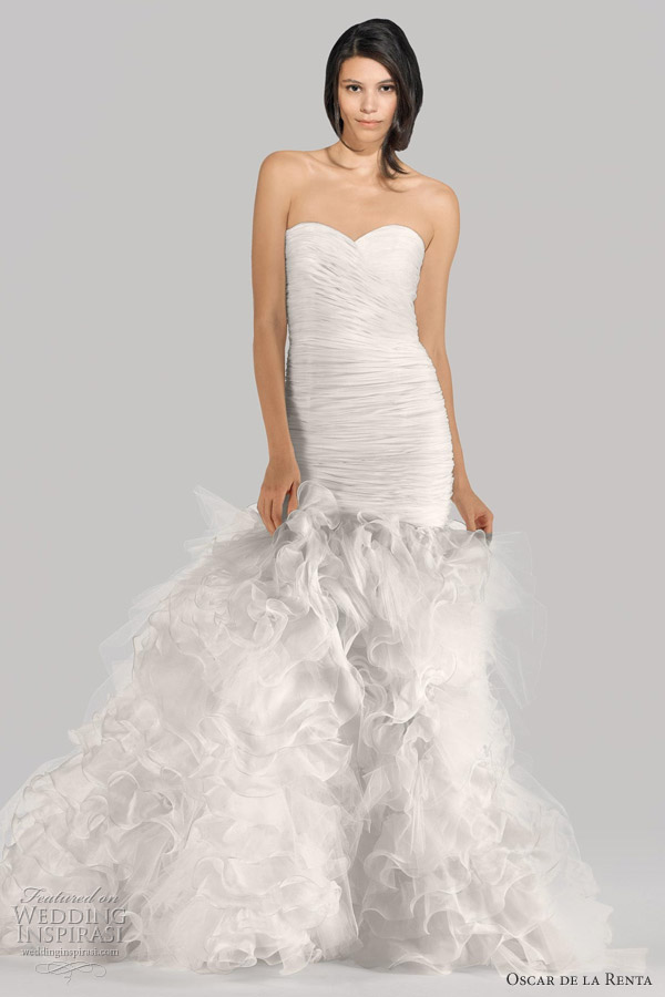 oscar de la renta bridal fall 2012 collection