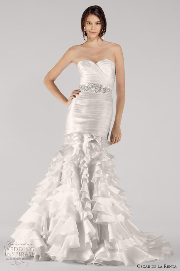 oscar de la renta fall 2012 bridal collection