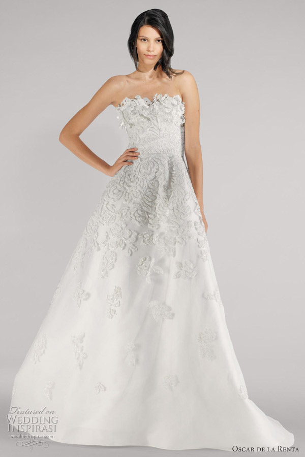 oscar de la renta fall 2012 wedding dresses